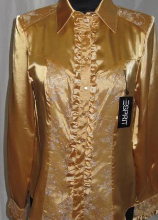 Блузка золотистая