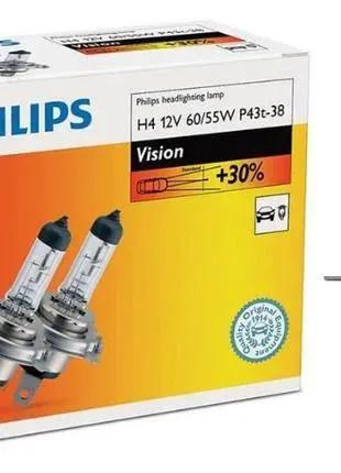 Набор ламп для автомобильных фар Philips Vision H4