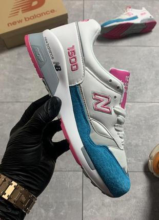 New balance 1500 white pink.