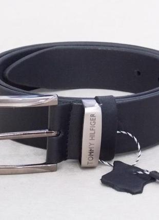 Мужской кожаный ремень tommy hilfiger для джинсов и брюк