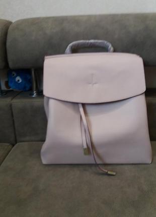 Новый рюкзак розовый пудровый италия