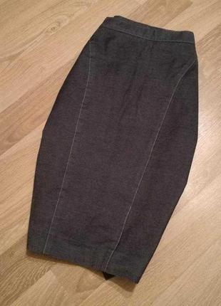 Юбка джинсовая миди карандаш под джинс