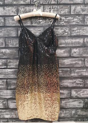 Роскошное платье guess. пайетки