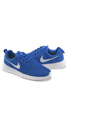 Кроссовки nike roshe run blue синие