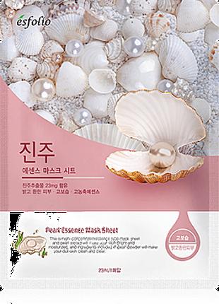Маска тканевая c жемчугом Esfolio Pearl Essence Mask Sheet