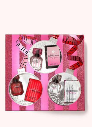 Подарочный набор из 3 парфюмов линейки bombshell victoria's se...