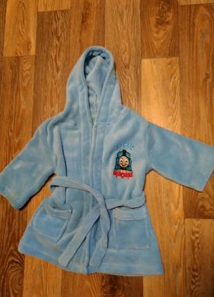 Мягкий халат lily jack на мальчика 2-3 года в идеальном состоянии