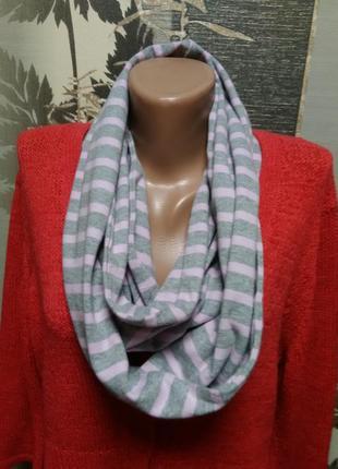Трикотажный шарф снуд maine в идеальном состоянии