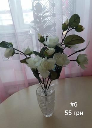Искусственные цветы, букет роза ветка