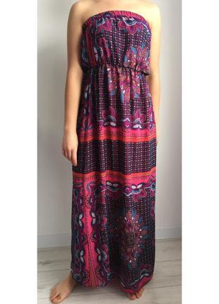 Длинное платье сарафан, платье в пол.