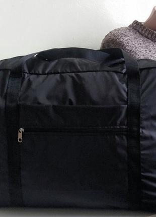 Сумка дорожная ручная кладь на чемодан длявещей легкая тонкая ...
