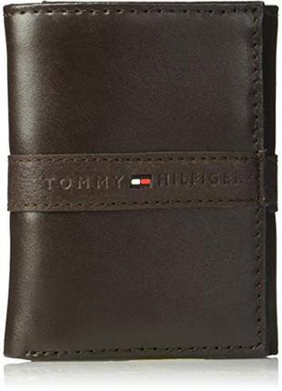 Кожаный кошелек tommy hilfiger фирменный портмоне оригинал из сша