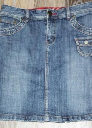 Джинсовая юбочка e.land jeans в идеальном состоянии l
