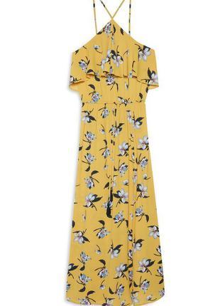 Красивое длинное  платье сарафан макси в цветы от primark