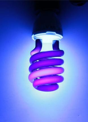 Лампа ультрафиолетовая под Е27 220В 365нм 30Вт энергосберегающая