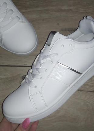 Кеды кроссовки белый женские кеди мокасины