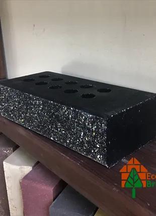 Кирпич облицовочный пустотелый ECOBRICK с фаской мраморный черный