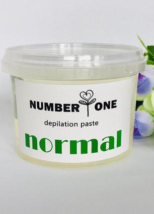 Сахарная паста для шугаринга средняя 450 г Number One Normal