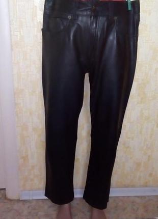 Крутые 100% кожаные мягкие брюки/ кожаные брюки/ брюки/штаны/д...