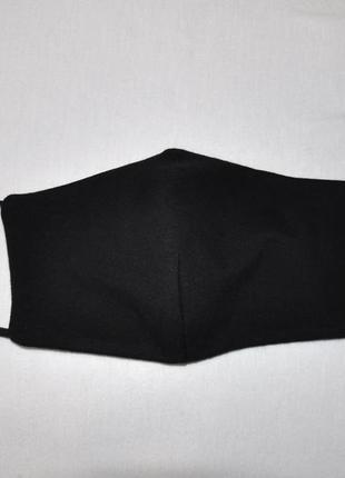 Черная маска для лица защитная многослойная двухсторонняя мног...