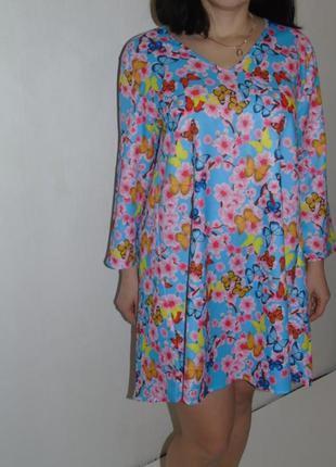 #розвантажуюсь весеннее платье в цветах
