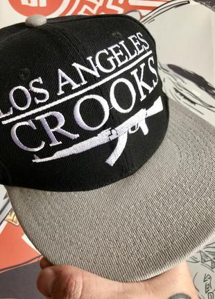 Кепка хип хоп стиль los angeles crooks бесболка snapback