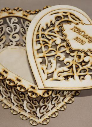 Шкатулка сердце подарок сувенир