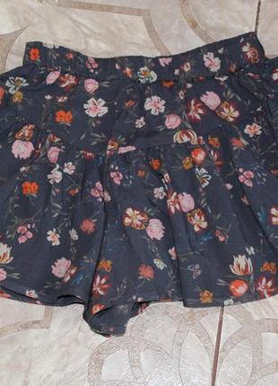 Легкие шорты - юбка next на девочку 7 лет