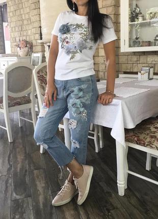 Нарядный комплект (джинсы & футболка)