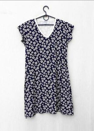 Трикотажная хлопковая ночнушка ночная рубашка сорочка