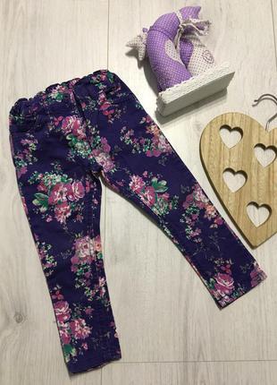 Детские брендовые яркие цветные джинсы для девочки 2-3 года