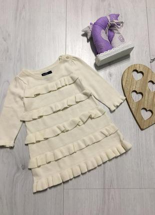 Трикотажное платье с рюшами для девочки 6-18 месяцев, gap