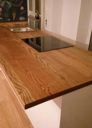 Столешница кухонная из массива ясеня. Изготовление изделий