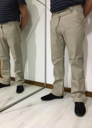 Классические мужские летние брюки, светлые джинсы, прямые штаны
