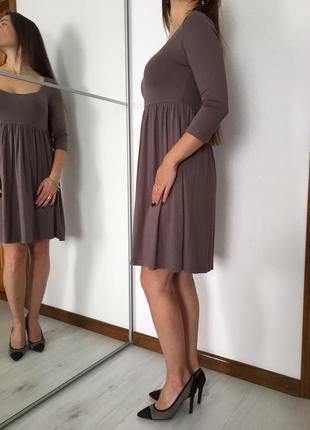 Трикотажное свободное  платье