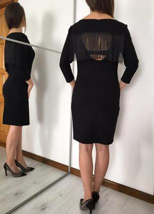 Стильное праздничное платье с длинным рукавом,открытая спина с...