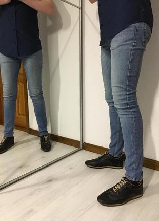 Летние мужские узкие джинсы super slim, s-m