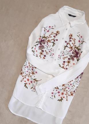 Рубашка с вышивкой принт 2d размер 10-12  f&f