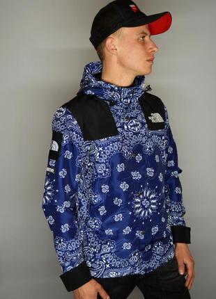Куртка supreme x the north face bandana blue