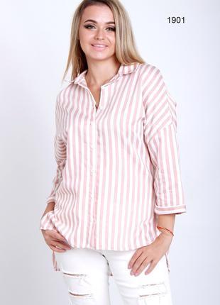Стильна рубашка в полоску свободного кроя