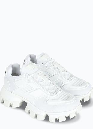 Prada cloudbust thunder white 🔺женские кроссовки прада белые