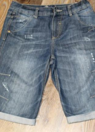 Джинсовые шорты f&f на мальчика 11-12 лет в идеальном состоянии