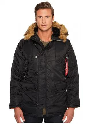 Зимова куртка Slim Fit N-3B Parka Alpha Industries (black/brown)