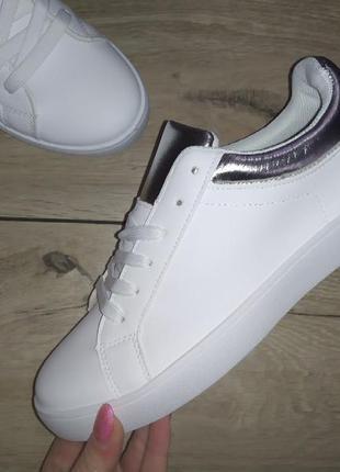 Кеды кроссовки белый женские кеди мокасины #розвантажуюсь