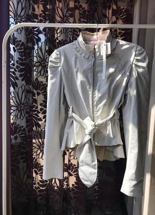 Шикарная итальянская кожаная куртка fracomina, натуральна кожа...