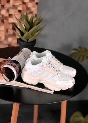 Adidas x naked magmur runner cream white🔺женские кроссовки адидас