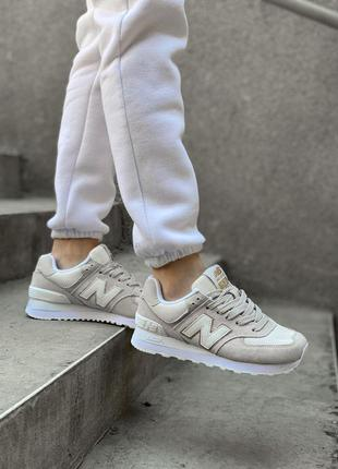 New balance 574 beige, кроссовки женские