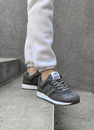 New balance 574 black, женские кроссовки
