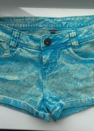 Стильные джинсовые шорты xs/s , fishbone new yorker варенки