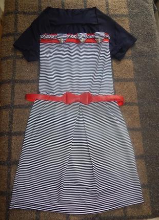 Мини-платье с болеро и с поясом